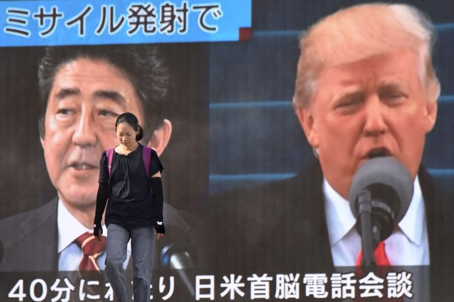 La déclaration ne précise pas si la conversation... (Photo AFP)