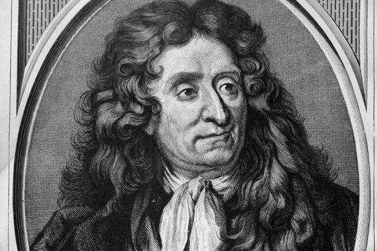 Portrait de Jean de La Fontaine gravé par... (image tirée de wikipédia)