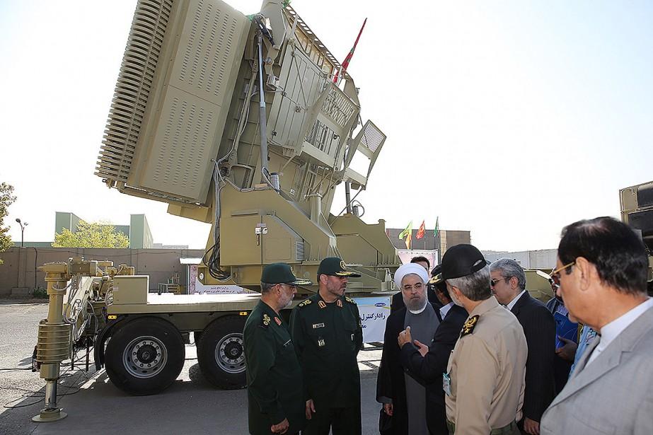 Le système antimissiles iranien Bavar373, comparable au S-300... (PHOTO ARCHIVES AFP/FOURNIE PAR LA PRÉSIDENCE IRANIENNE)
