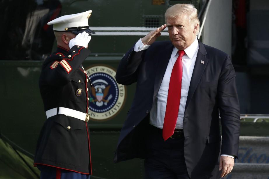 «Le président Trump a réaffirmé l'engagement des États-Unis... (AP)