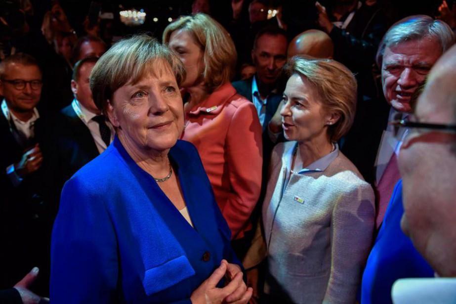 La chancelière allemande AngelaMerkel est allée à la... (PHOTO JOHN MACDOUGALL, AGENCE FRANCE-PRESSE)