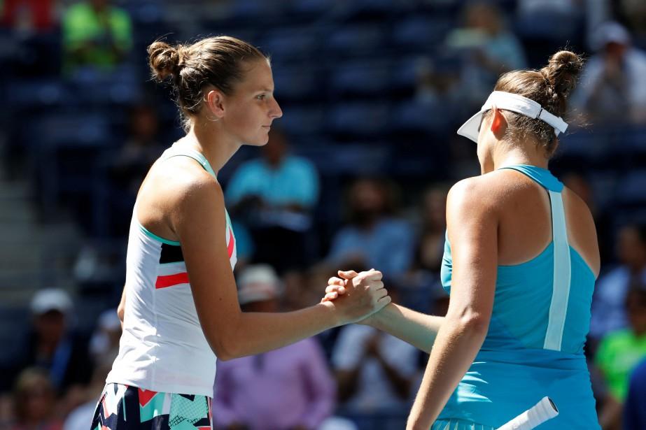 Karolina Pliskova a battu Jennifer Brady en moins... (PHOTO REUTERS)