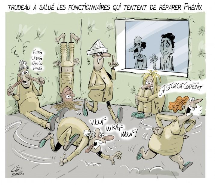 Caricature du 5 septembre (Le Soleil, André-Philippe Côté)