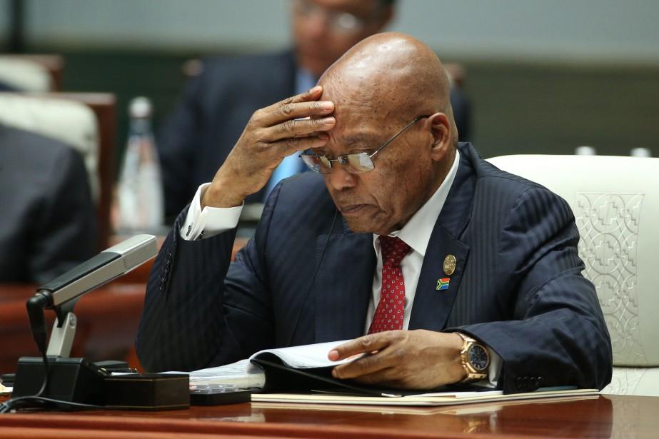 Le président sud-africain Jacob Zuma... (PHOTO WU HONG, AFP)