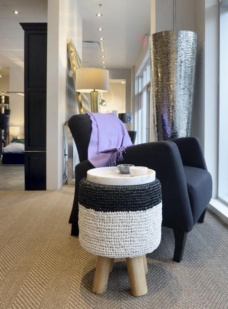 La boutique Au Loft et l'atelier de design Style Libre misent sur des textures riches et raffinées. (Le Soleil, Jean-Marie Villeneuve)