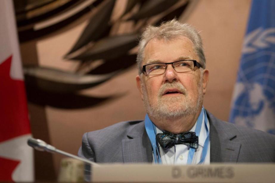 David Grimes, président de l'Organisation météorologique mondiale... (PhotoIVANOH DEMERS, LA PRESSE)