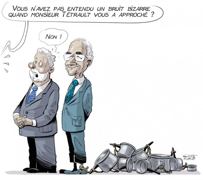 Caricature du 7 septembre (Le Soleil, André-Philippe Côté)