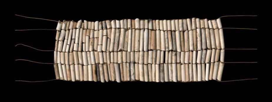 Pipe Beads, 2017, Nadia Myre, impression numérique sous... (Photo fournie par la galerie Art Mûr)