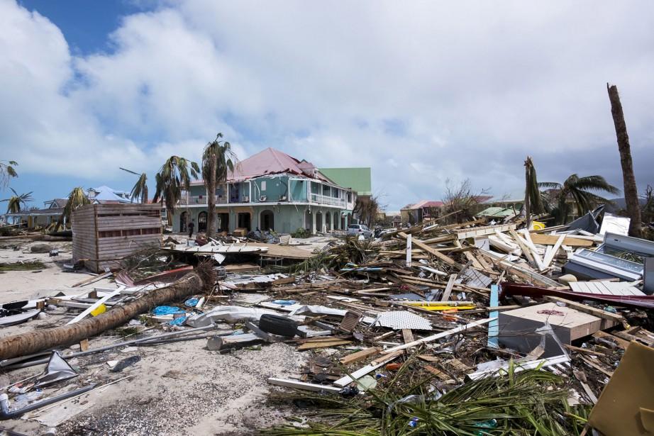 L'île franco-néerlandaise de Saint-Martin a été frappée de plein fouet par l'ouragan. (AFP, Lionel Chamoiseau)