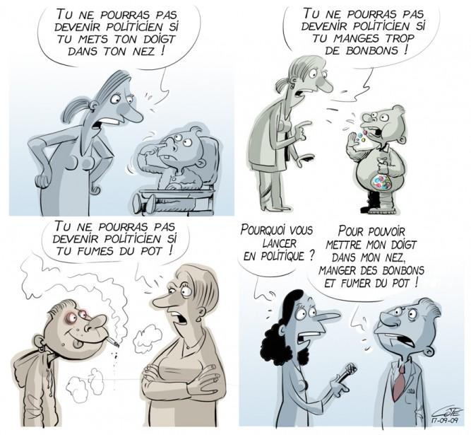 Caricature du 9 septembre (Le Soleil, André-Philippe Côté)