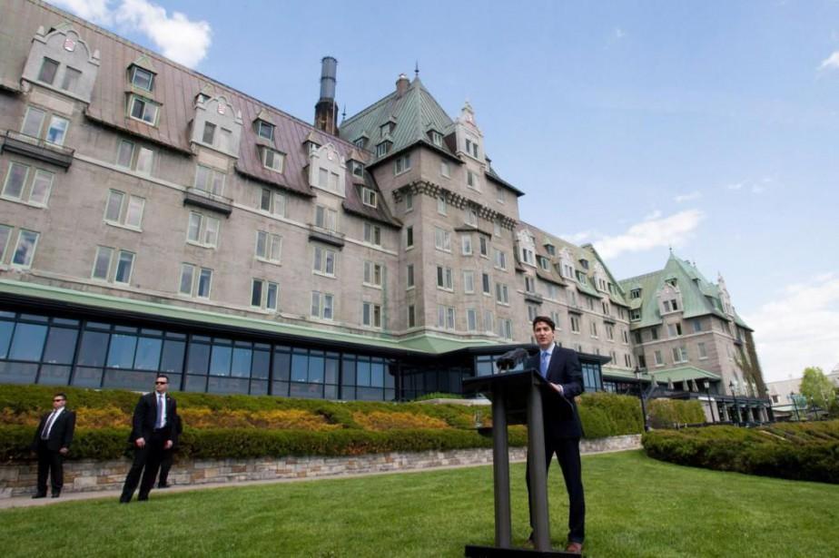 Justin Trudeau recevra ses homologues du G7 au... (PhotoJacques Boissinot, Archives La presse canadienne)