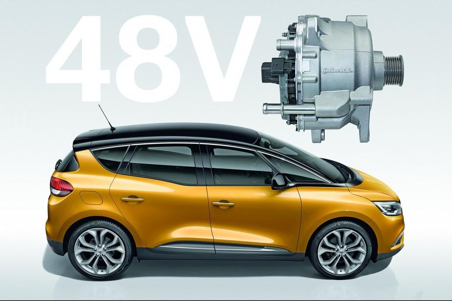 Le VUS urbain Renault Scenic à hybridation légère 48 V. (Renault)