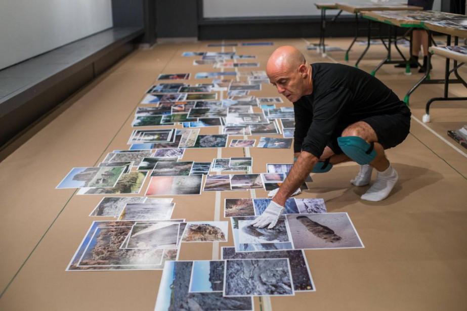 Le photographe canadien Jayce Salloum préparant, la semaine... (Photo Martin Tremblay, La Presse)