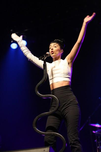 La chanteuse Madmoiselle est montée sur scène dans le cadre des Shows du parvis, à Granby. | 11 septembre 2017