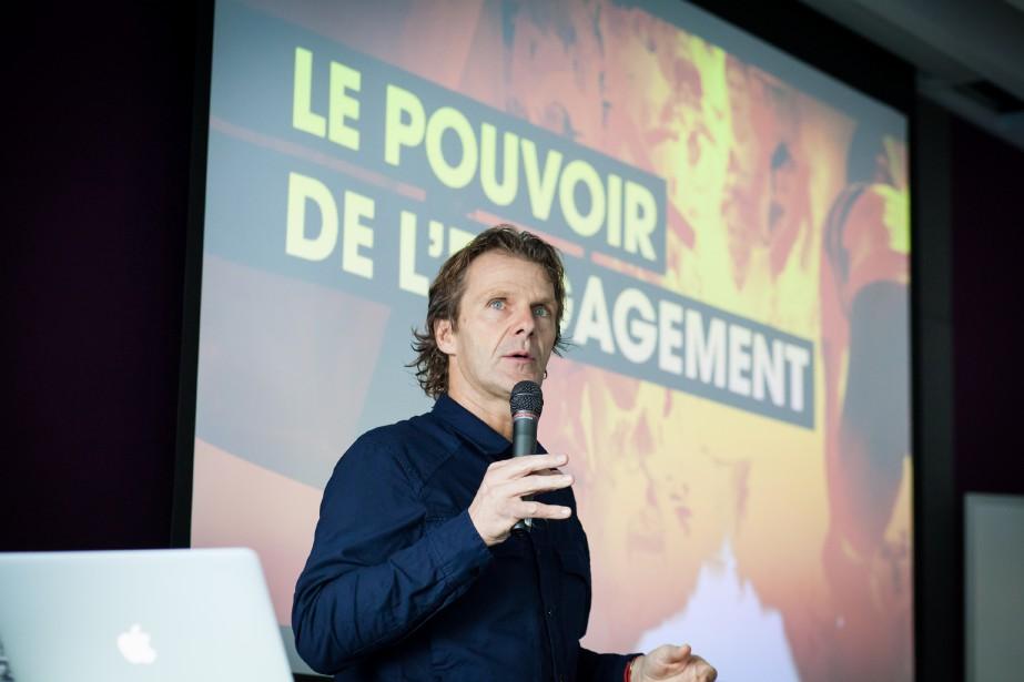 Pierre Lavoie, cofondateur du Grand défi Pierre Lavoie est l'un des intervenants de renom de l'Institut de leadership. | 12 septembre 2017