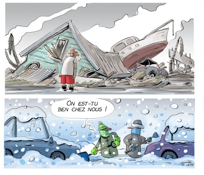 Caricature du 13 septembre (Le Soleil, André-Philippe Côté)