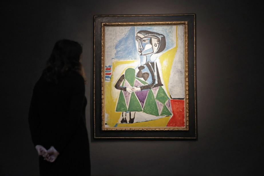 Femme accroupie (Jacqueline) de Pablo Picasso... (PHOTO AP)