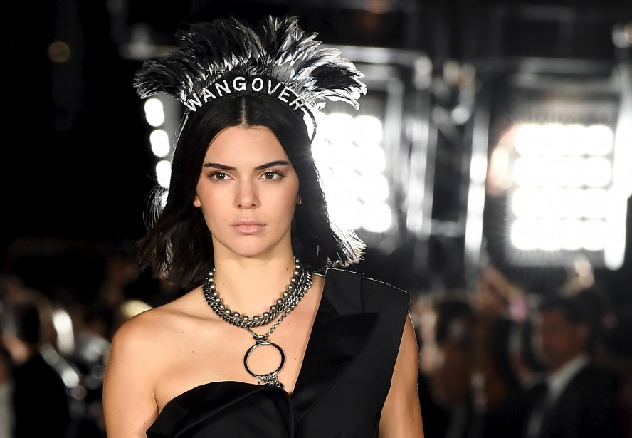 La mannequin Kendall Jenner en Alexander Wang | 13 septembre 2017