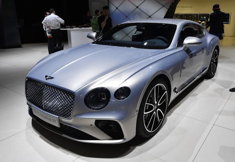 La nouvelle Bentley Continental GT est exposée au Salon de l'auto de Francfort. | 13 septembre 2017