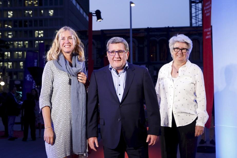 Julie Lemieux, Régis Labeaume et Agnès Maltais ont foulé le tapis rouge. | 13 septembre 2017
