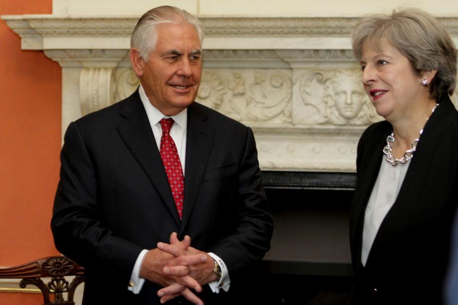 Le secrétaire d'État américain Rex Tillerson et la... (REUTERS)