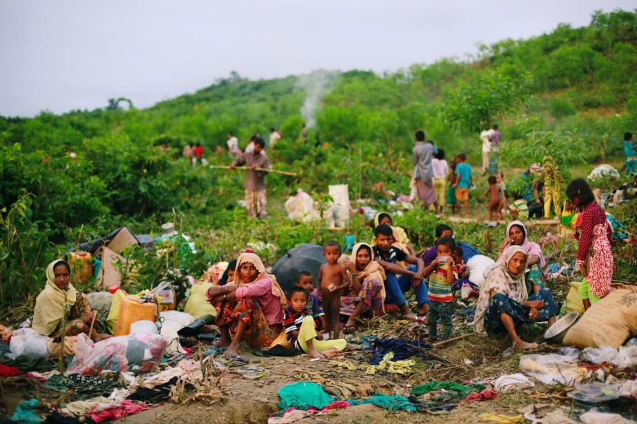Quelque 380 000 Rohingyas se sont réfugiés au... (PHOTO REUTERS)