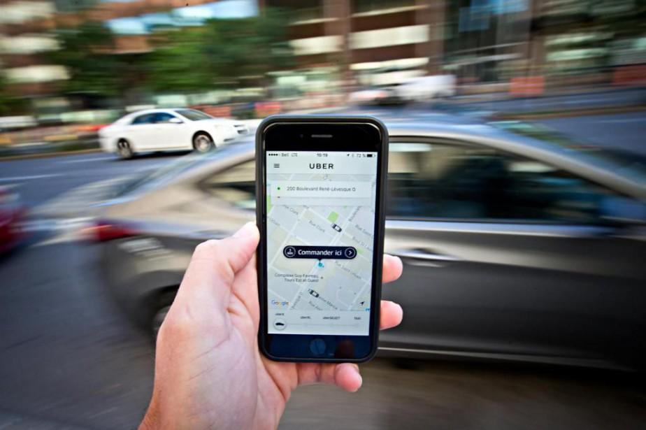 Cinq chauffeurs d'Uber ontécopé d'amendes de700$ pour avoir... (Photo Patrick Sanfaçon, Archives La Presse)