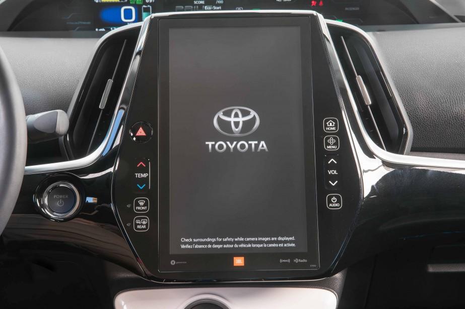 L'intérieur de la Toyota Prius Prime (Photo fournie par Toyota)