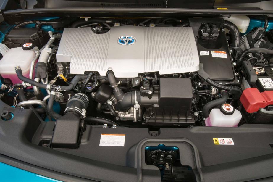 Le moteur de la Toyota Prius Prime (Photo fournie par Toyota)
