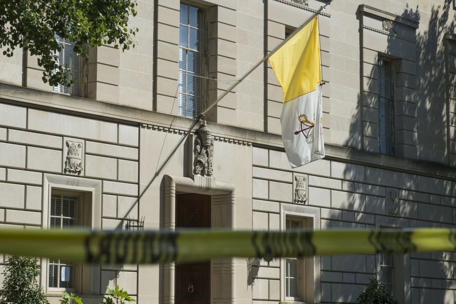 L'ambassade du Vatican à Washington... (PHOTO ANDREW CABALLERO-REYNOLDS, AFP)