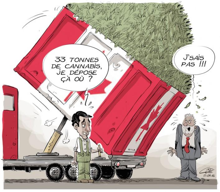 Caricature du 16 septembre (Le Soleil, André-Philippe Côté)