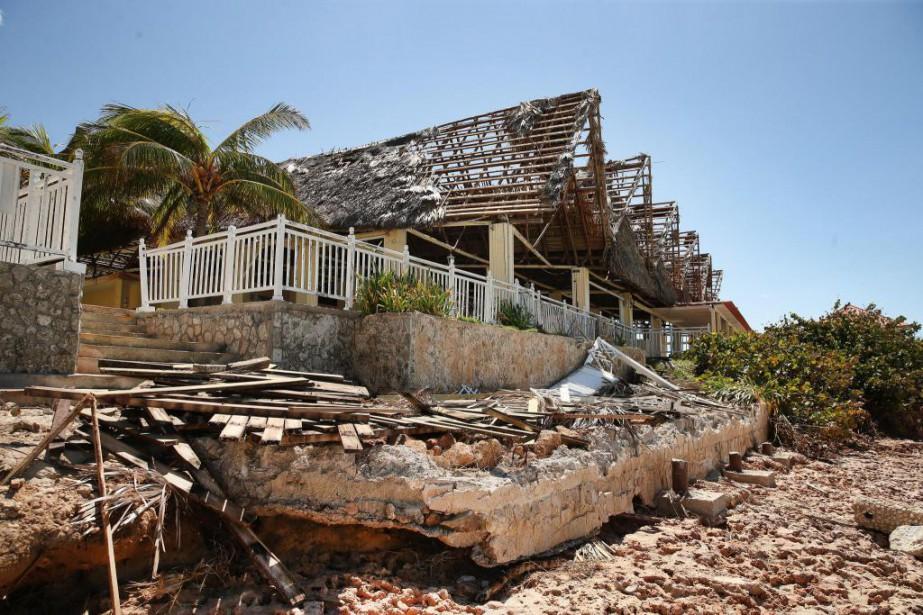 À Varadero, quelques dommages importants sont visibles dans... (Photo Martin Chamberland, La Presse)