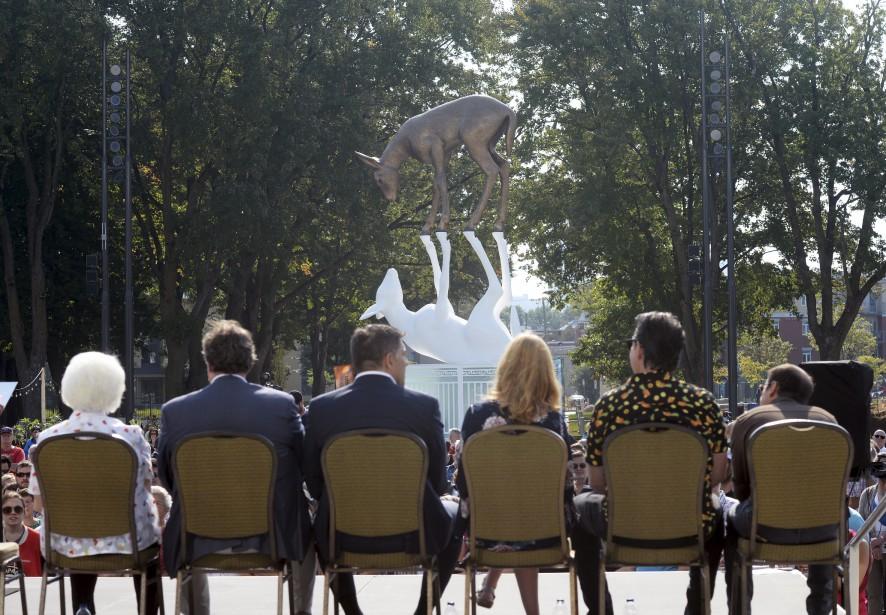 Une dizaine de dignitaires étaient présents à la cérémonie d'inauguration. (Le Soleil, Jean-Marie Villeneuve)