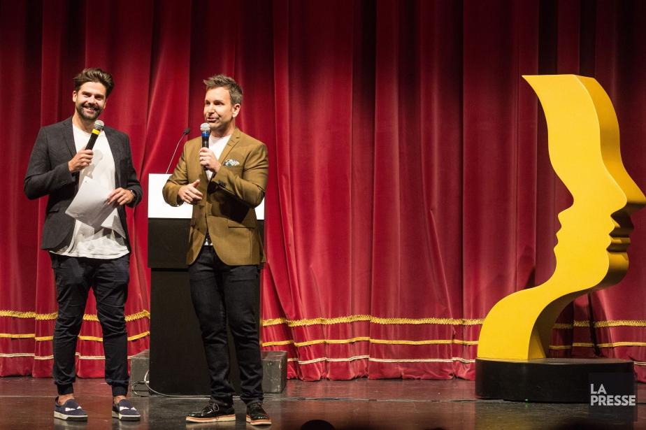 Jean-Philippe Wauthier et Éric Salvail... (PHOTO SIMON GIROUX, LA PRESSE)