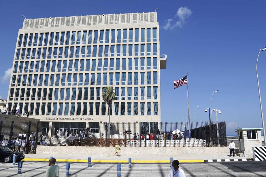Depuis fin 2016, 16 Américains travaillant à l'ambassade... (ARCHIVES AP)