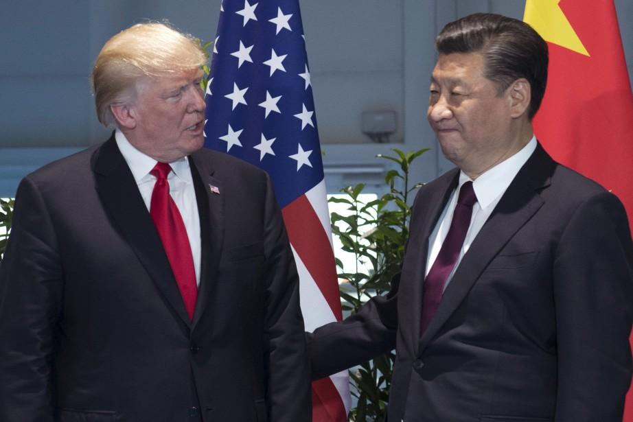 Le président américain Donald Trump et son homologue... (AP)