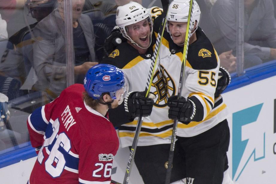 Contre cette équipe qui ressemblait davantage aux Bruins... (PHOTO PC)