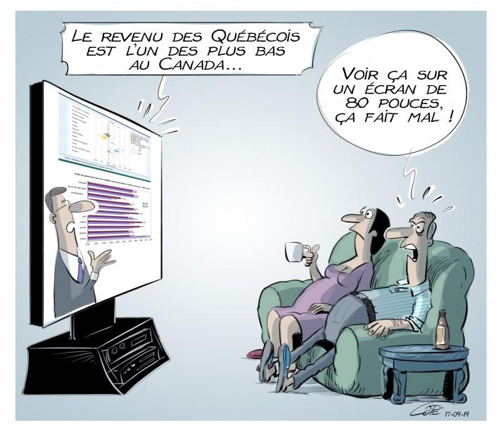 Caricature du 19 septembre (Le Soleil, André-Philippe Côté)