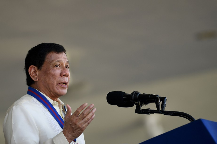 Le président philippin Rodrigo Duterte... (PHOTO NOEL CELIS, AFP)