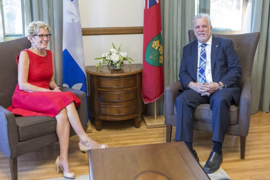 La première ministre de l'Ontario Kathleen Wynne a... (Photo Francis Vachon, PC)