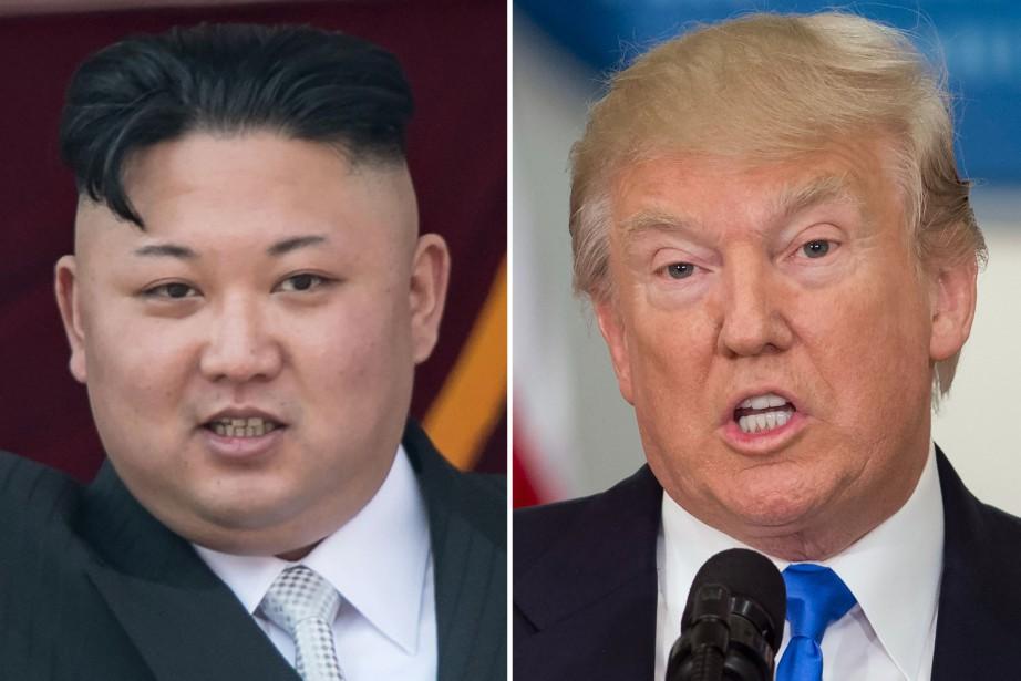 Le leader nord-coréenKim Jong-un et le président américain... (PHOTO ARCHIVES AGENCE FRANCE-PRESSE)