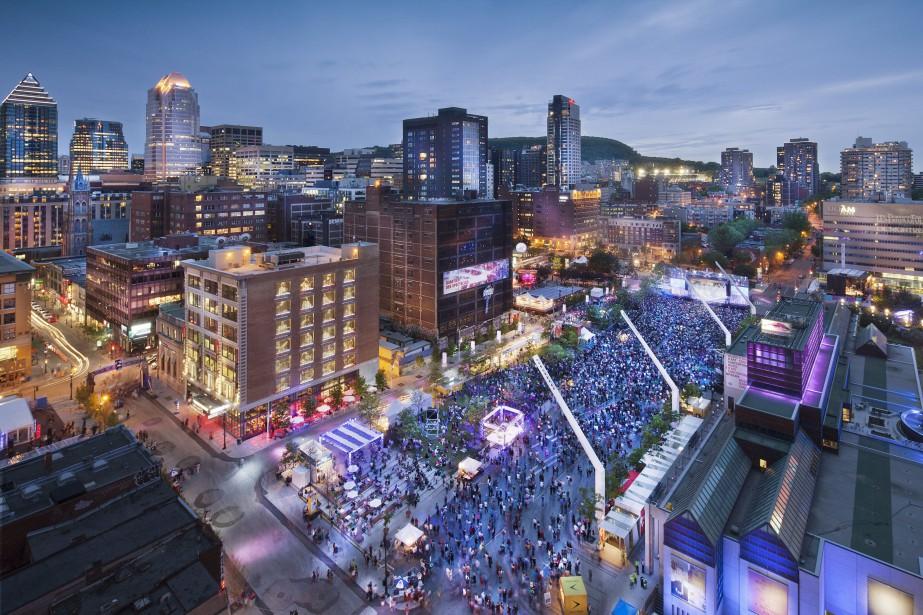 Le Quartier des spectacles est un des endroits... (Photo :Tourisme Montréal)