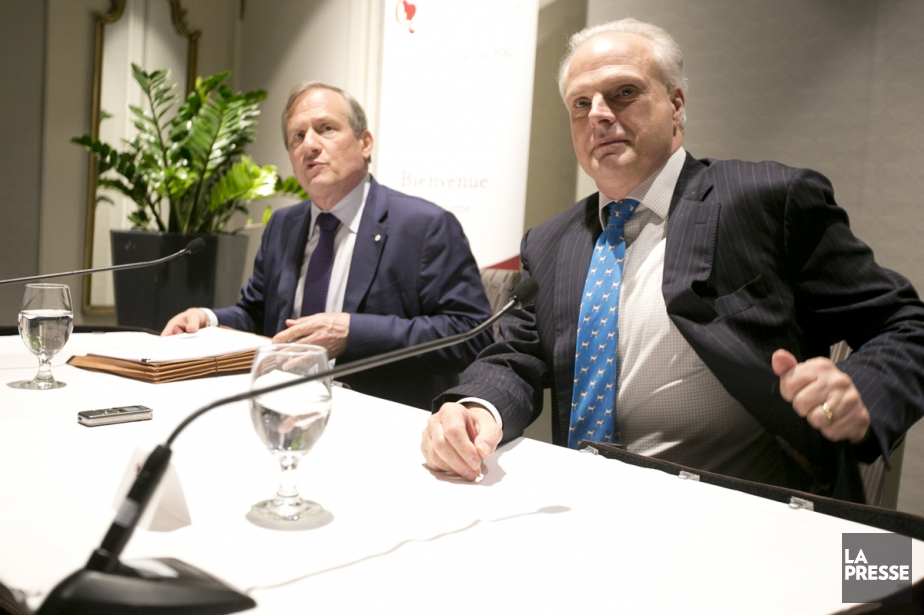 Louis Audet (à gauche),président de Cogeco en compagnie... (Photo François Roy, La Presse)
