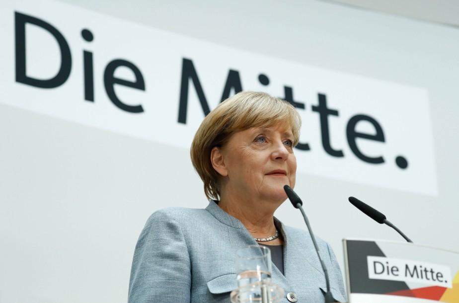 Angela Merkel a livré un point de presse... (PHOTO archives AFP)
