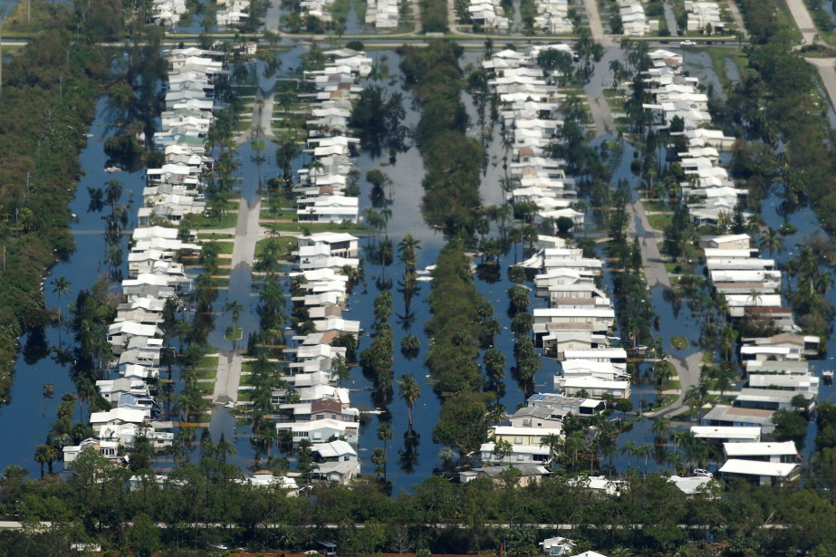 Immage aérienne de la ville floridienne de Fort Myers... (Photo REUTERS)