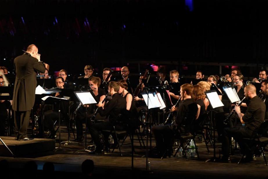 L'Orchestre de jeux vidéo interprète le répertoire de... (PHOTO BERNARD BRAULT, LA PRESSE)