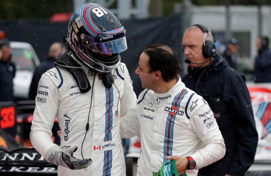 Lance Stroll et Felipe Massa seront-ils encore coéquipiers en 2018 ? On les voit ici après les qualifications du GP d'Italie. | 28 septembre 2017