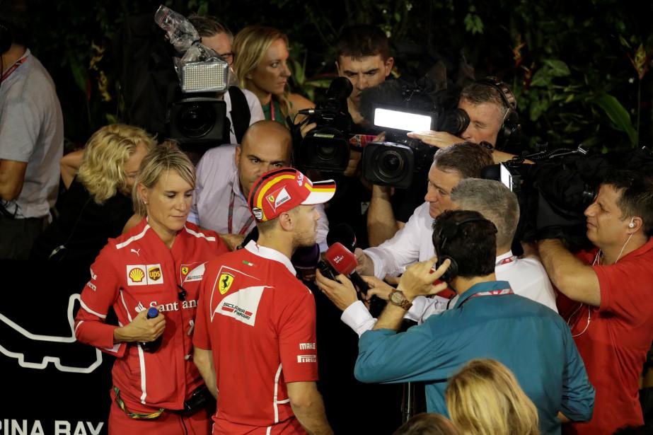 Sebastian Vettel a dû expliquer son erreur de pilotage après son abandon le 17 septembre en Malaisie. | 28 septembre 2017