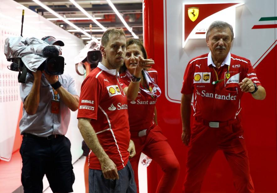 Sebastian Vettel après sa catastrophique course en Malaisie. | 28 septembre 2017