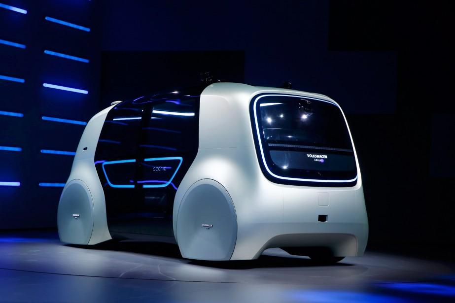 Sedric, un concept de voiture autonome de Volkswagen, a été... | 2017-10-02 00:00:00.000